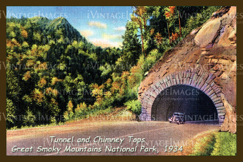 Great Smoky Mountains Postcard 1934 - 16
