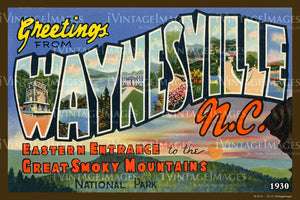 Great Smoky Mountains Postcard 1930 - 17