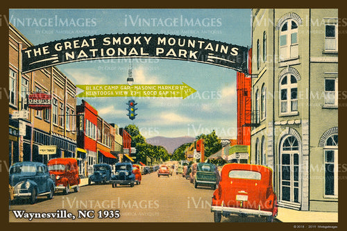 Great Smoky Mountains Postcard 1930 - 18