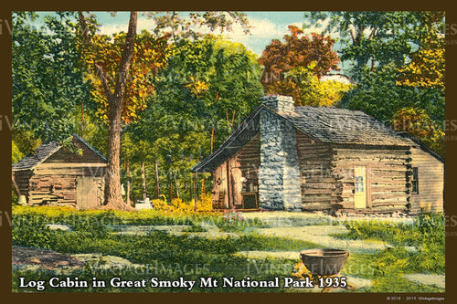 Great Smoky Mountains Postcard 1930 - 26