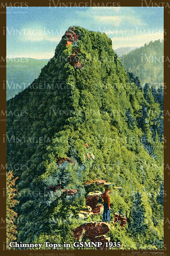 Great Smoky Mountains Postcard 1930 - 29