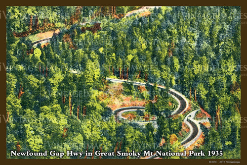 Great Smoky Mountains Postcard 1930 - 30