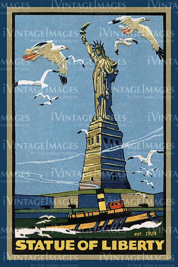 Statue of Liberty Postcard 1924 - 01