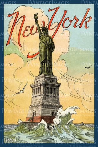 Statue of Liberty Print 1924 - 03