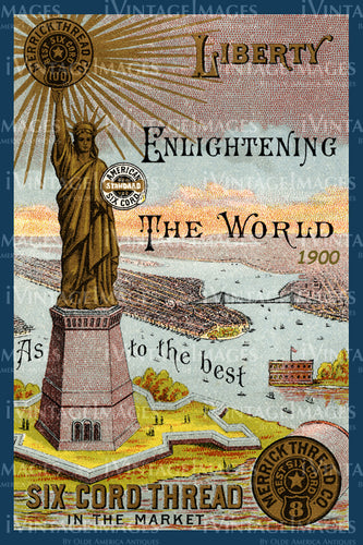 Statue of Liberty Trade Card 1900 - 04