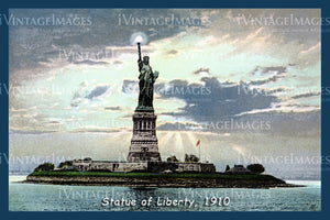 Statue of Liberty Postcard 1910 - 07