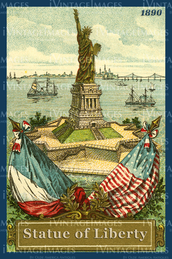 Statue of Liberty Trade Card 1890 - 09