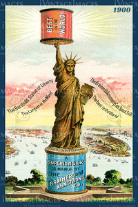 Statue of Liberty Trade Card 1900 - 10