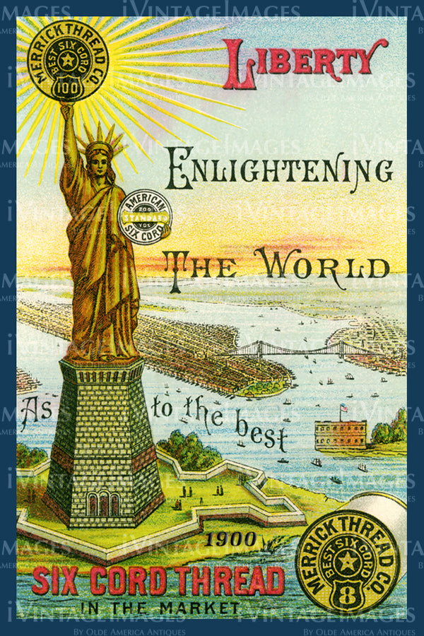 Statue of Liberty Trade Card 1900 - 11
