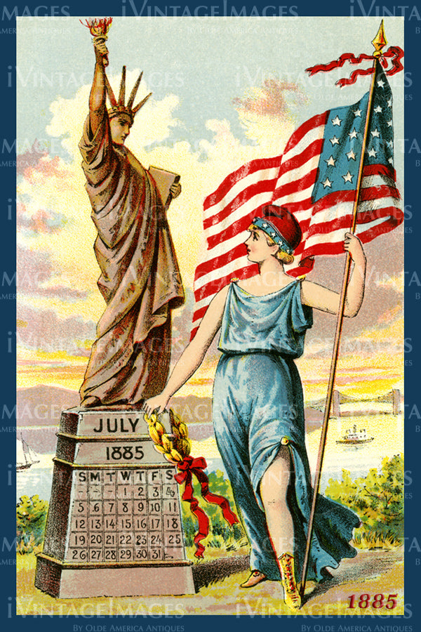 Statue of Liberty Trade Card 1885 - 12