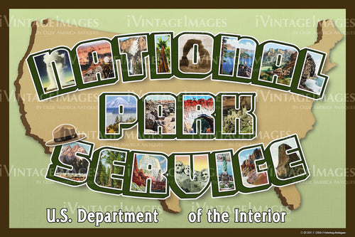 National Park Service Large Letters - 002