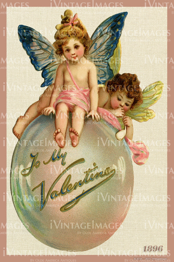 Victorian Valentine and Fairies 1896 - 01