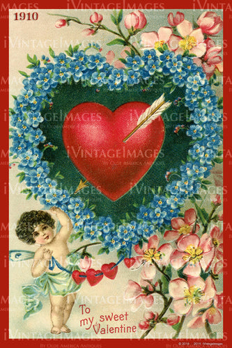 Victorian Valentine and Cupid 1910 - 35