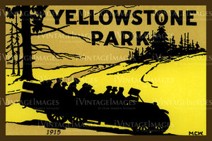 Yellowstone Luggage Sticker 1915 - 7