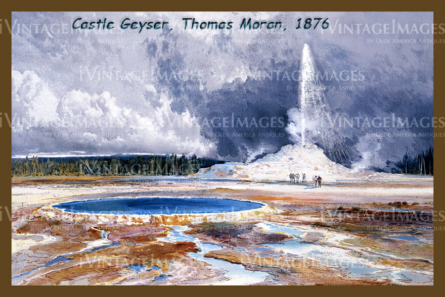 Yellowstone Painting 1876 - 54