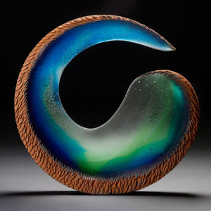 Alex Bernstein glass art available at Habatat Galleries, FL
