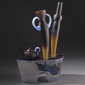 José Chardiet glass art available at Habatat Galleries Florida