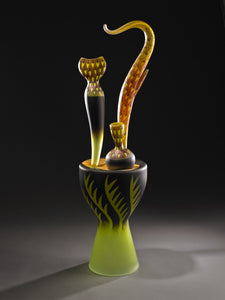 Jose Chardiet Glass sculpture