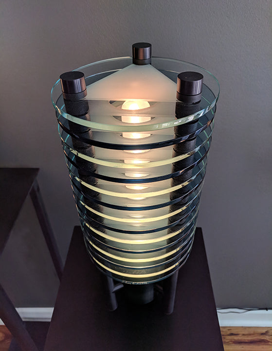Sidney Hutter glass art, lighting