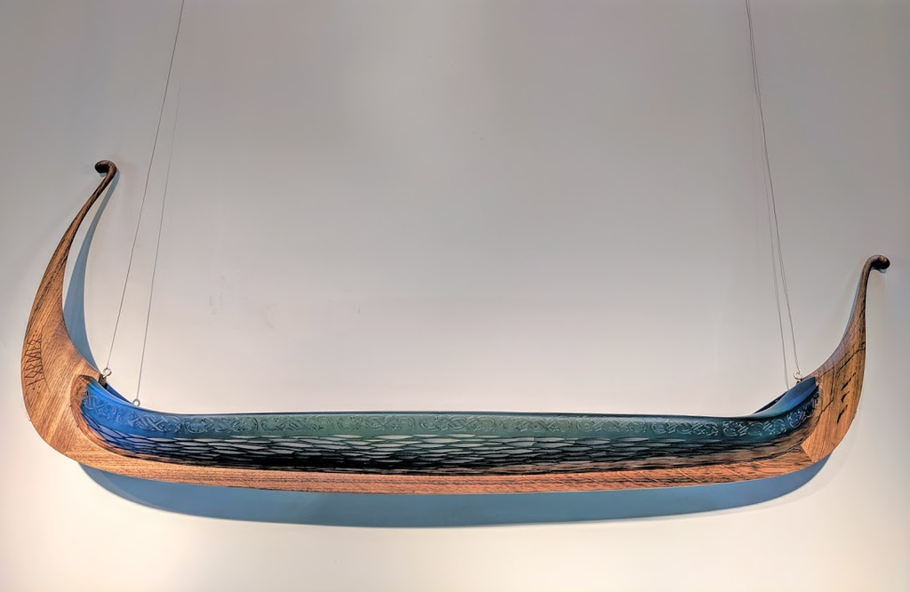Backhaus-Brown glass and wood sculpture at Habatat Galleries, Florida