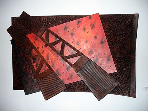 Tanija & Graham Carr Leather wall sculpture