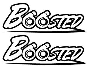 "2 X ""BOOSTED"" DECALS - 7EIGHTY AUTO"