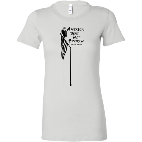 America: Bent Nor Broken Women's Longer Body Length Shirt