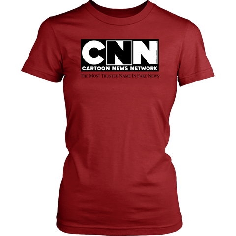 CNN Cartoon News Network Women's Crew Neck T-Shirt