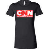 CNN Cartoon News Network Women's Longer Body Length Shirt
