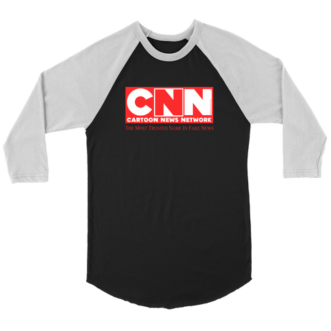 CNN Cartoon News Network Unisex 3/4 Raglan