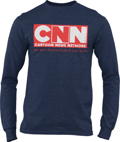 CNN Cartoon News Network Unisex Long-Sleeve T-Shirt