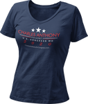 Charles Anthony Women's V-Neck T-Shirt Campaign