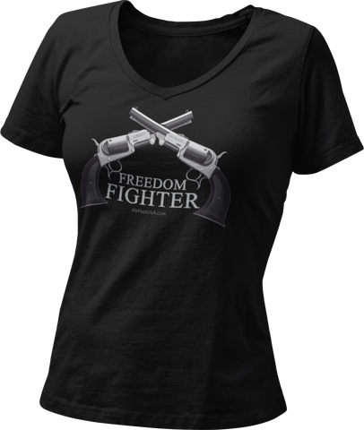 Freedom Fighter Women's Tri-Blend V-Neck T-Shirt