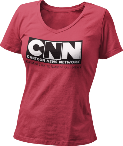CNN Cartoon News Network Women's V-Neck T-Shirt