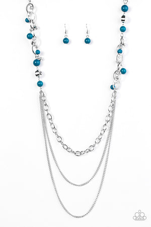 Carefree and Capricious Necklace - Blue