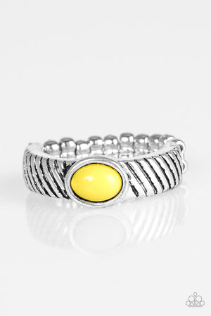 Zebra Zen Ring - Yellow