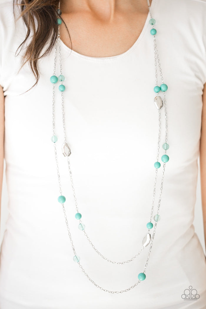 Hitting A GLOW Point Necklace - Green