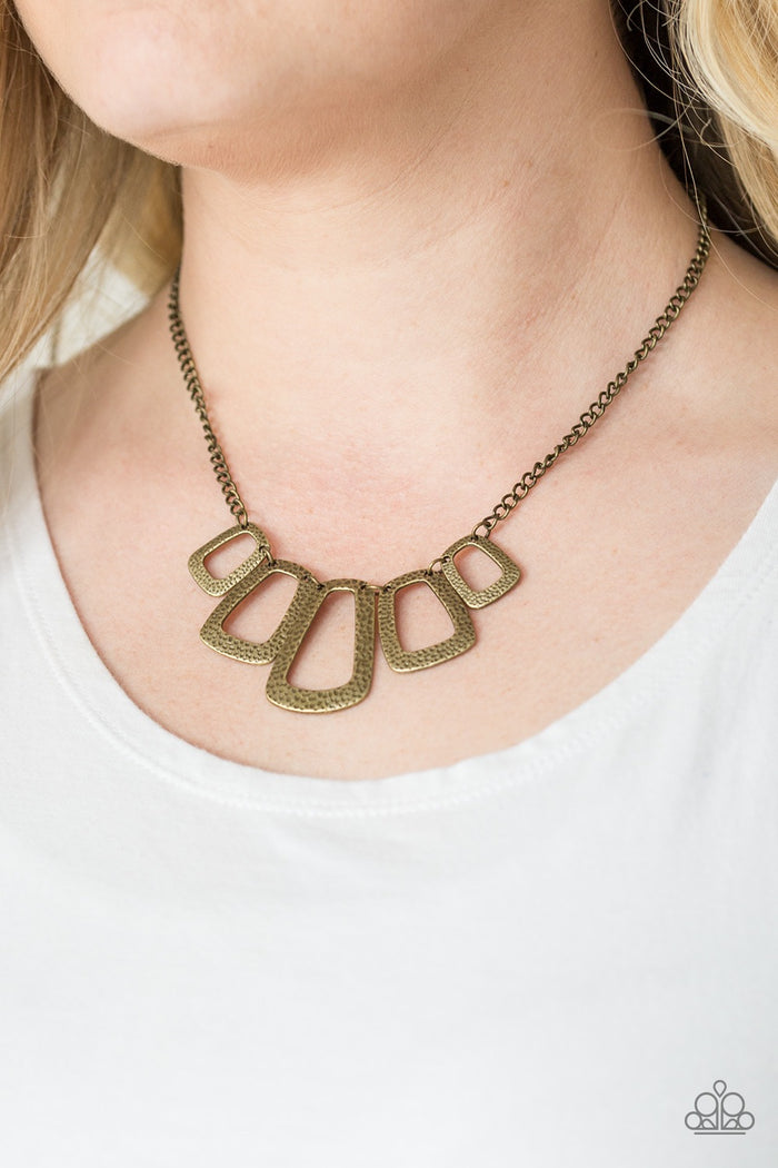 Nice FRAMEWORK! Necklace - Brass