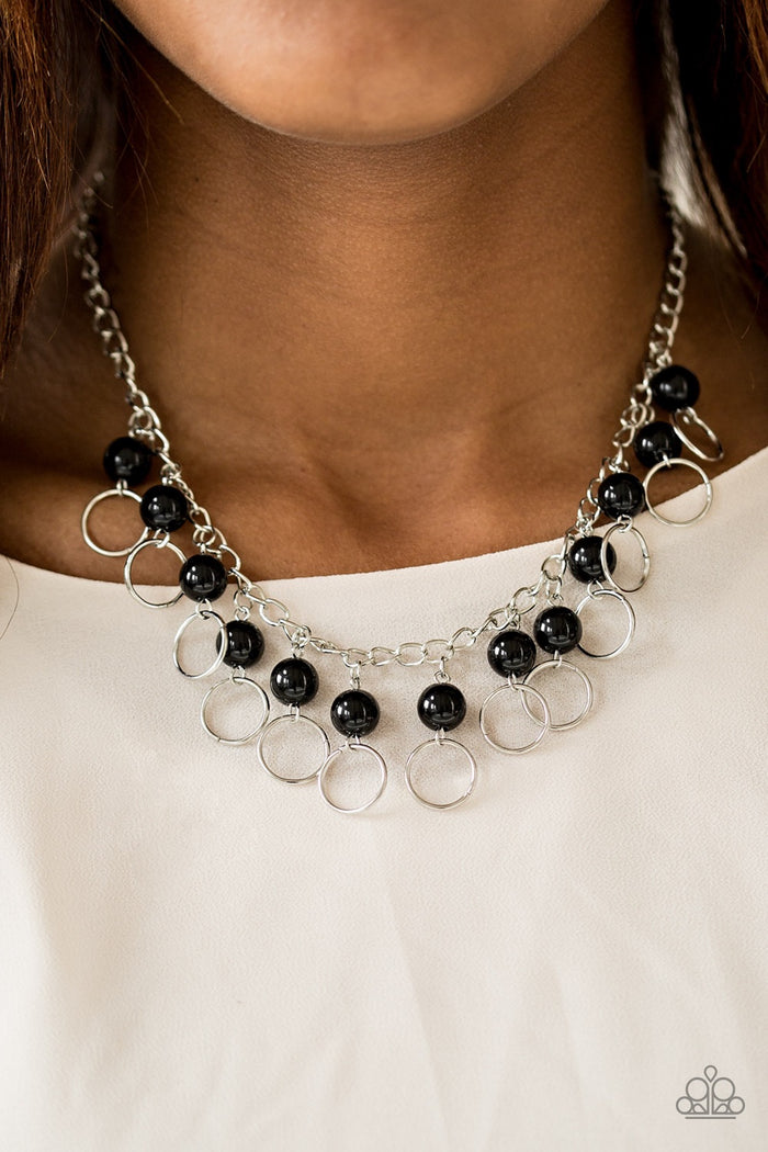 Run The Show Necklace - Black
