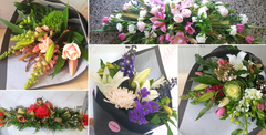 Using fresh seasonal flowers, we can provide casket sprays, standing sprays, wreaths, bouquets, customised arrangements for the funeral and personalised sympathy bouquets and arrangements for the family and loved ones.   We work with you and your budget and can guarantee same day delivery from florist to Tauranga, Mount Maunganui, Papamoa. Contact us we would love to help.