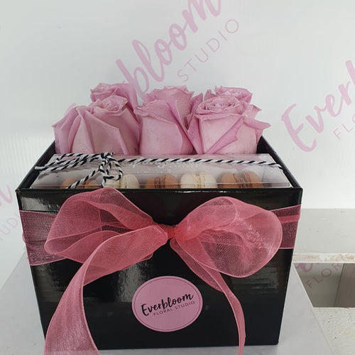 Roses and Macarons Gift Box
