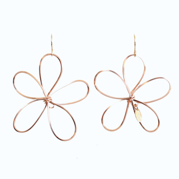 Petalos Exoticos Dangle Earrings (60mm) - Rose Gold