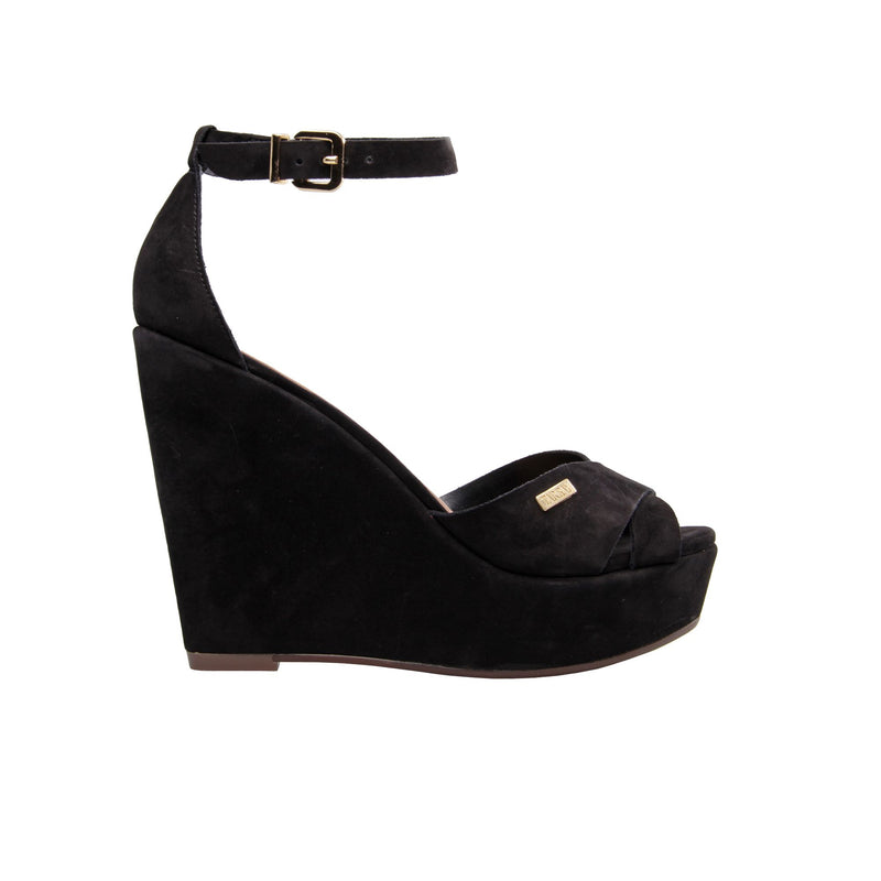 Corocoro Black Wedges - TARBAY