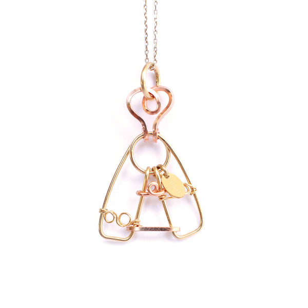 Virgen del Valle Charm (33mm) - Yellow & Rose Gold - TARBAY