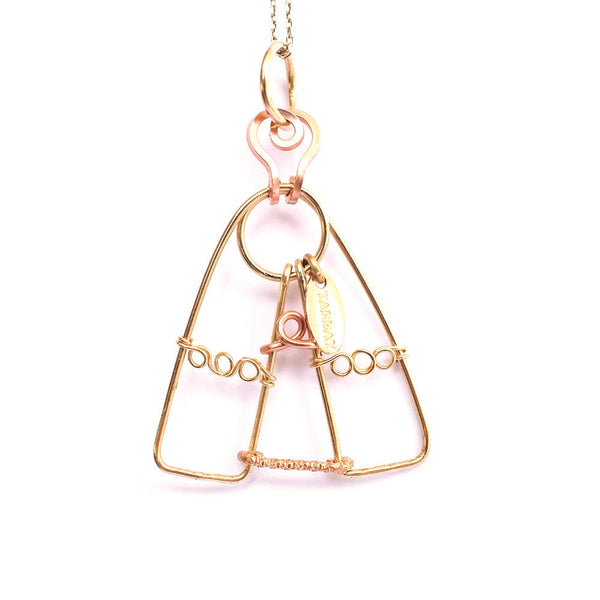 Virgen del Valle Charm (43mm) - Yellow & Rose Gold - TARBAY