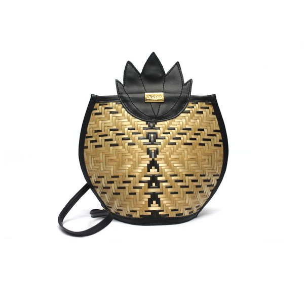 Pineapple Crosbody Bag and Backpack - Black