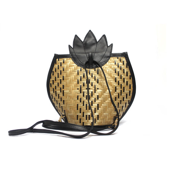 Pineapple Crosbody Bag and Backpack - Black - TARBAY