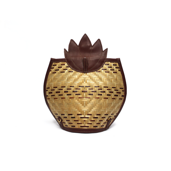 Pineapple Clutch Bag - Bordeaux