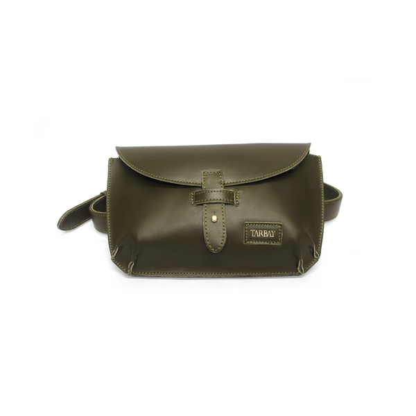 Tajali Genuine Leather Belt Bag - Herb