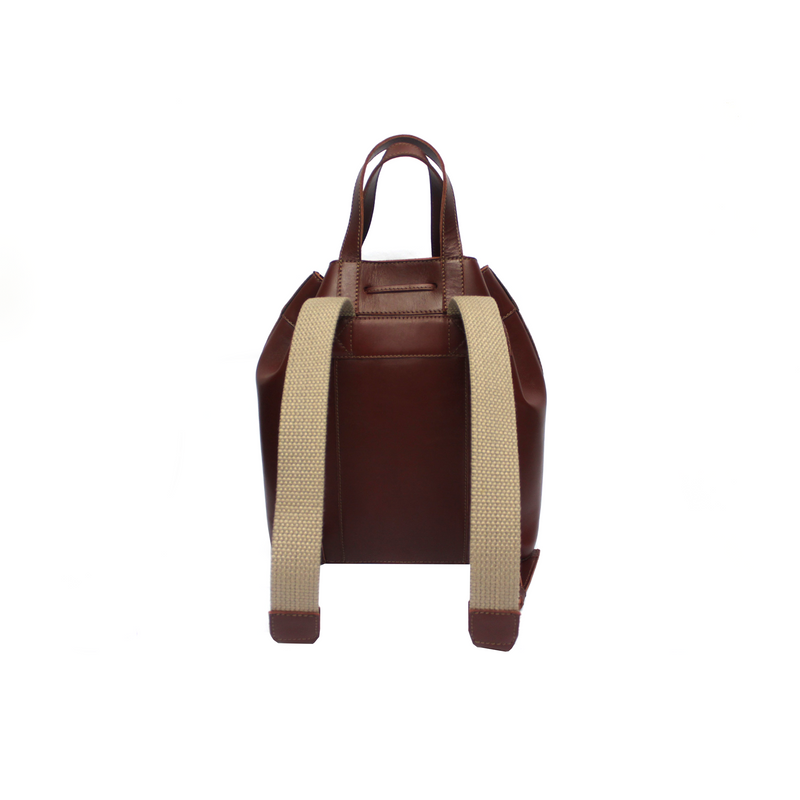 Azaí Genuine Leather Backpack - Bordeaux - TARBAY